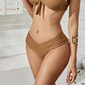 Brown bikini bottom